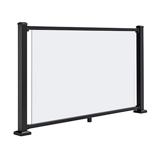(note: Glass panel only: railing system, brackets and posts are NOT included)